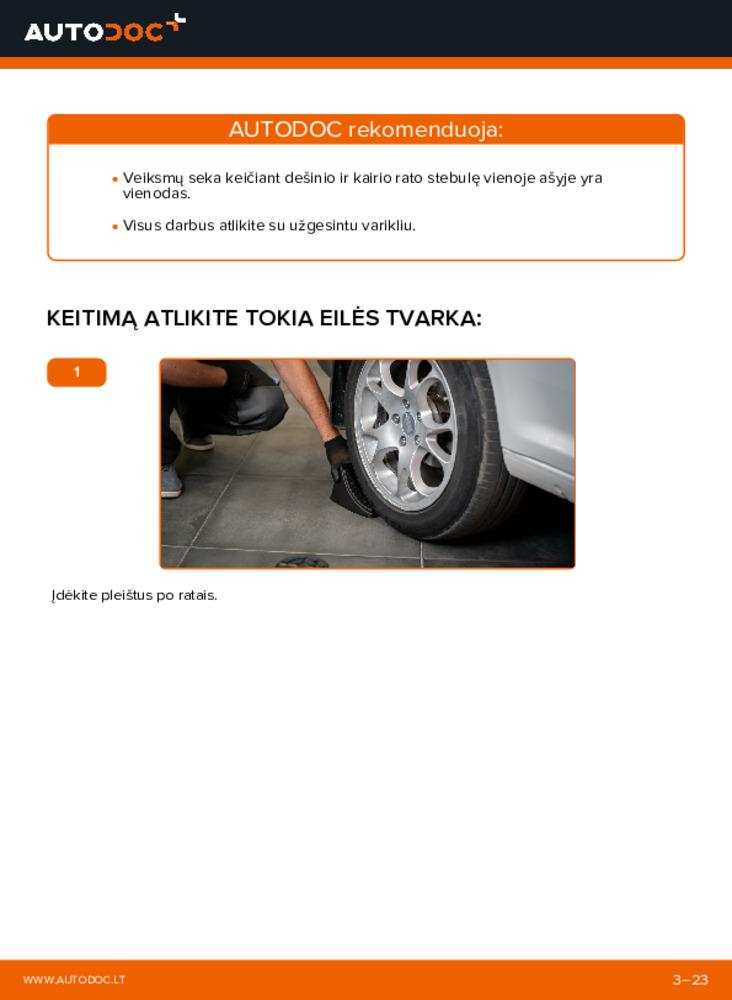 Kaip atlikti keitimą: 1.9 TDI VW Caddy 3 Universalas Rato guolis