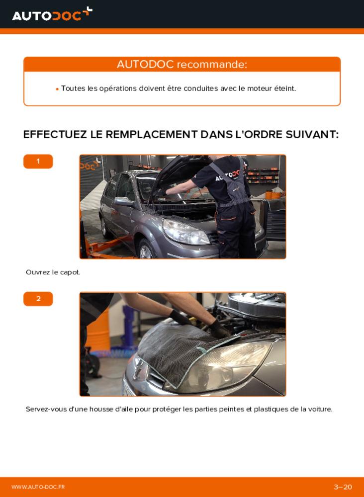 Comment effectuer un remplacement de Courroie Trapézoïdale à Nervures sur 1.9 dCi Renault Scenic 2