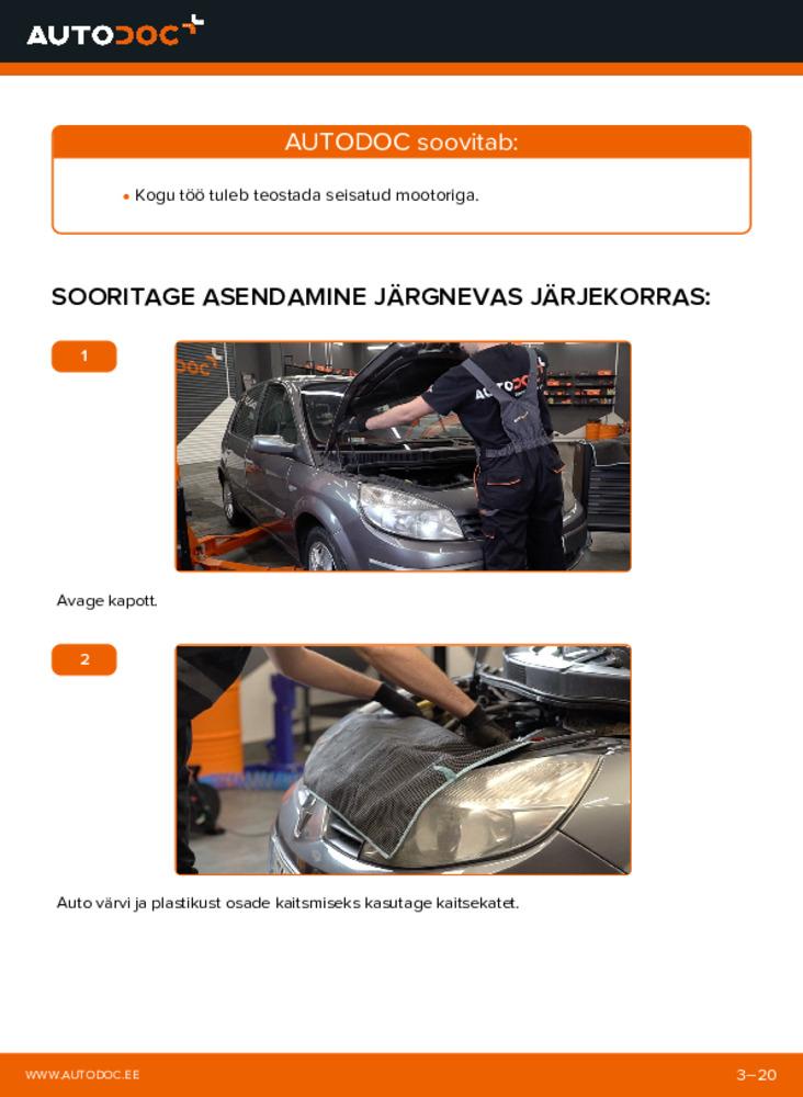 Kuidas välja vahetamist läbi viia: 1.9 dCi Renault Scenic 2 Soonrihm