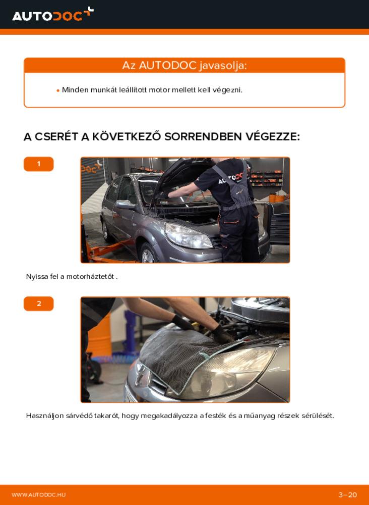 Hogyan végezze a cserét: 1.9 dCi Renault Scenic 2 Hosszbordás szíj