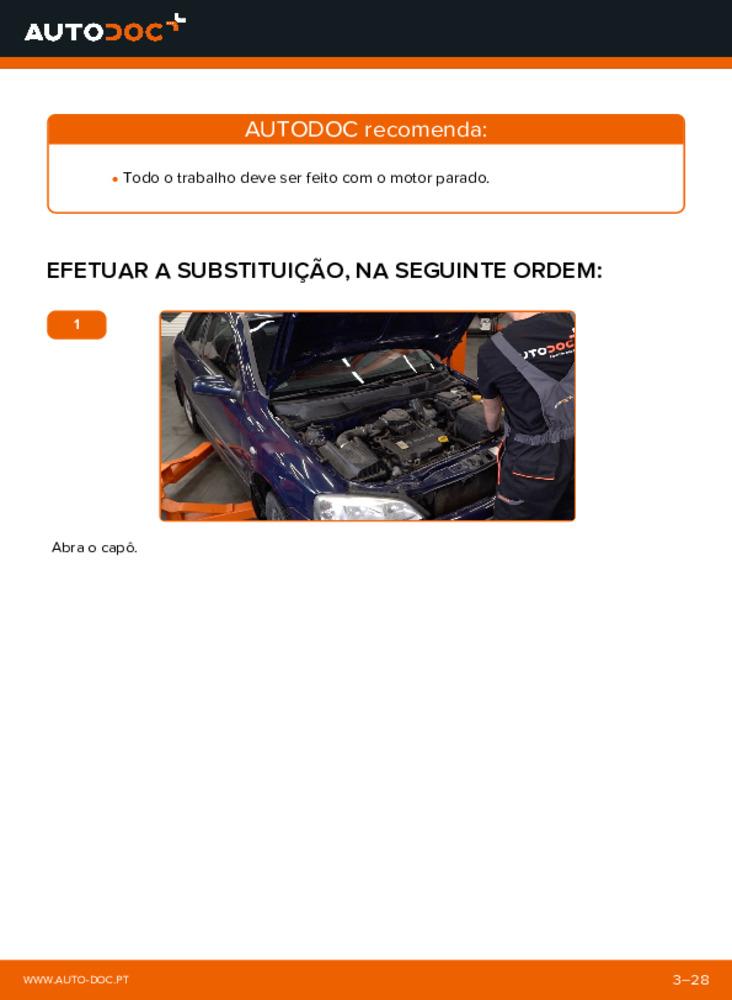 Como realizar a substituição de Apoios de Motor no 1.6 16V (F08, F48) Opel Astra g f48
