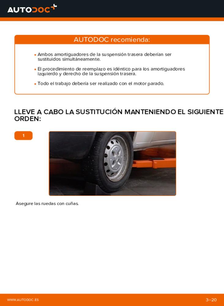 ¿Cómo realizar un reemplazo de Amortiguadores en 1.9 JTD Fiat Doblo Cargo? Eche un vistazo a nuestra guía detallada y sepa cómo hacerlo.