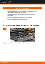 Kuidas asendada Ford Focus 2 DA esimesi pidurikettaid