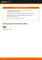 Nemokamos internetinės instrukcijos kaip atnaujinti Amortizatoriaus atrama VW GOLF V (1K1)