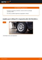 Kako zamenjati spodnjo sprednjo obeso koles iz sprednjega neodvisnega vzmetenja na Ford Focus 2 DA