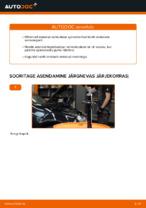 Kuidas vahetada esimesi suspensiooni vedrusid autol VOLKSWAGEN GOLF V