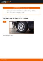 Kaip pakeisti nepriklausomos galinės pakabos apatinę priekinę dalį Ford Focus 2 DA