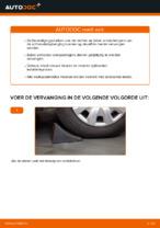 Stap-voor-stap PDF-handleidingen over het veranderen van FORD FIESTA V (JH_, JD_) Veerpootlager