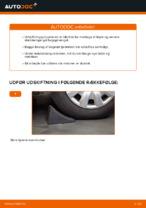 Hvordan bageste støddæmper befæstigelse udskiftes på Ford Fiesta V
