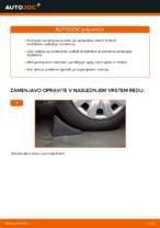 Kako zamenjati nastavek zadnjega blažilnika na Ford Fiesta V