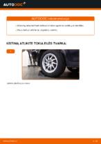 Kaip pakeisti galinės nepriklausomos pakabos apatinę svirtį Ford Focus 2 DA