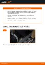 Kaip pakeisti galinius stabdžių diskus VW Touran 1T1 1T2