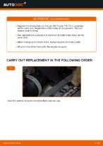 Changing Brake Discs VW TOURAN: workshop manual