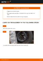 How to replace the tie rod end on Toyota Yaris P1