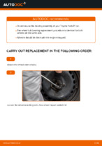 Step by step PDF-tutorial on TOYOTA YARIS Wheel Bearing replacement