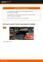 Como substituir os amortecedores da bagageira no BMW E92