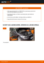 Kuidas asendada BMW E92 esimesi pidurikettaid.