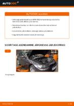 Kuidas asendada BMW E92 tagumisi pidurikettaid