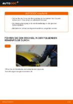 Wechseln von Scheibenbremsbeläge Instruktion PDF für TOYOTA YARIS