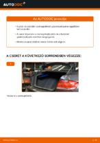 BMW E92 csomagtérfedél gázteleszkóp csere