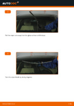 How to replace the front wiper blades on BMW E90