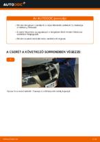 BMW E90 tárcsafék hátsó fékbetét csere