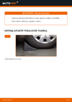 PDF keitimo instrukcija: Vairo trauklės (valdymo svirtis, išilginis balansyras, diago BMW 3 Sedanas (E90) gale ir priekyje