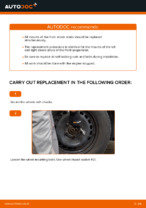 DIY manual on replacing Caliper TOYOTA YARIS (SCP1_, NLP1_, NCP1_)