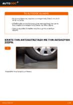 Αλλαγή Ακρα ζαμφορ πίσω αριστερά AUDI A4: online εγχειριδιο