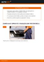 Kako zamenjati zavorne kolute na sprednjem delu pri AUDI A4 B6