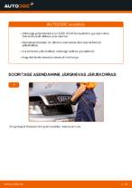 Paigaldus Piduriketas AUDI A4 (8E2, B6) - samm-sammuline käsiraamatute