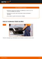 AUDI aizmugurē un priekšā Bremžu uzlikas nomaiņa dari-to-pats - tiešsaistes instrukcijas pdf