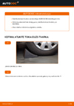 Kaip pakeisti priekinės pakabos stabilizatoriaus traukę AUDI A4 B6