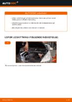 Hvordan man udskifter bremseklodser til skivebremser i for på Audi A6 C6_4F
