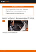 Kuinka vaihtaa etujarrupalat levyjarruihin autoon Audi A6 C6_4F
