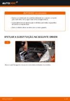 Como substituir as pastilhas de travão dianteiras do travão de disco de Audi A6 C6_4F