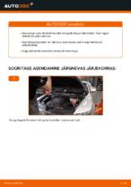Samm-sammuline PDF-juhend AUDI A6 (4F2, C6) Piduriklotsid asendamise kohta