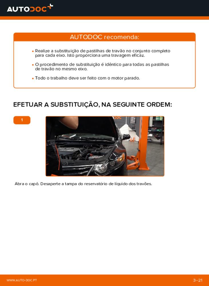 Como realizar a substituição de Pastilhas De Travão no 2.0 i (CU1) Honda Accord VIII CU