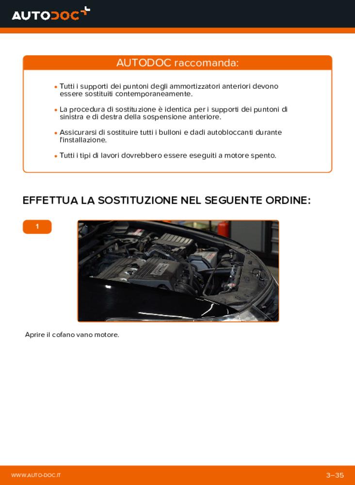 Come effettuare una sostituzione di Supporto Ammortizzatore su 2.0 i (CU1) Honda Accord VIII CU