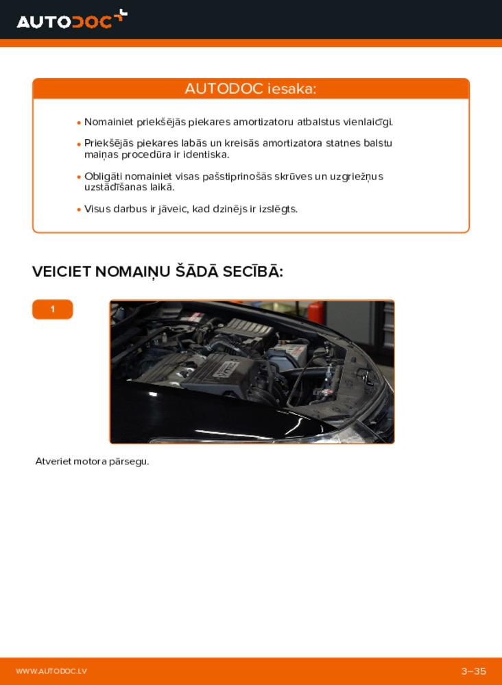 Kā veikt nomaiņu: 2.0 i (CU1) Honda Accord VIII CU Amortizatoru Atbalsta Gultņi