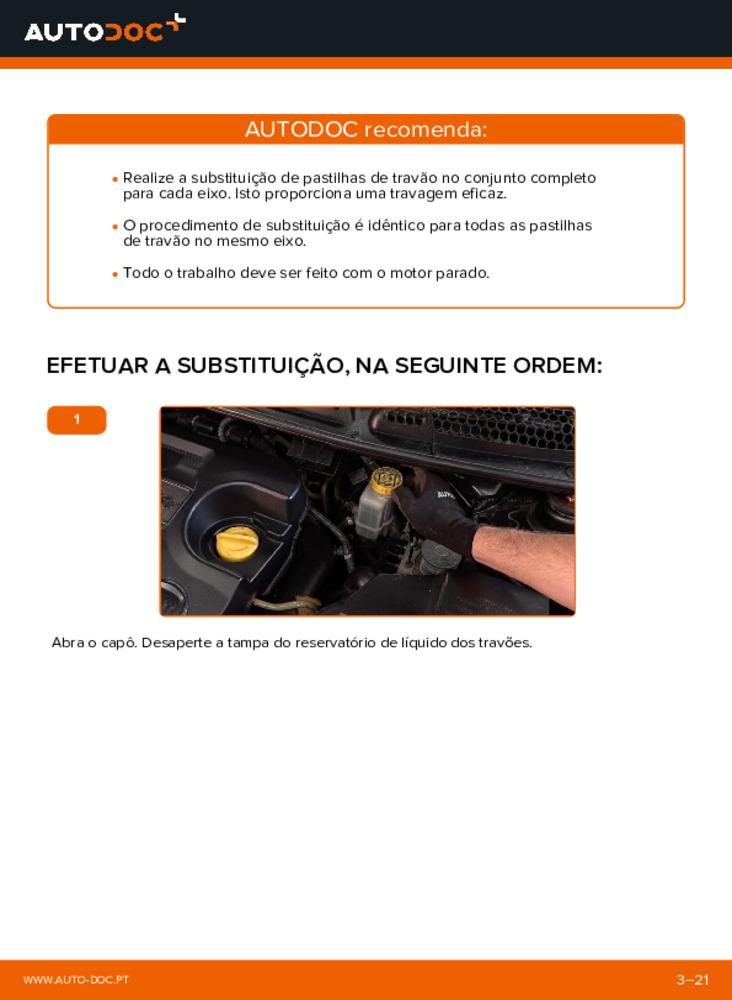 Como realizar a substituição de Pastilhas De Travão no 1.9 D Multijet FIAT BRAVO II (198)