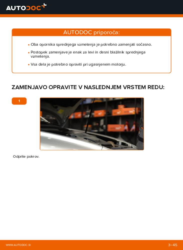 Kako izvesti menjavo: Blazilnik na 2.0 D Volvo v50 mw