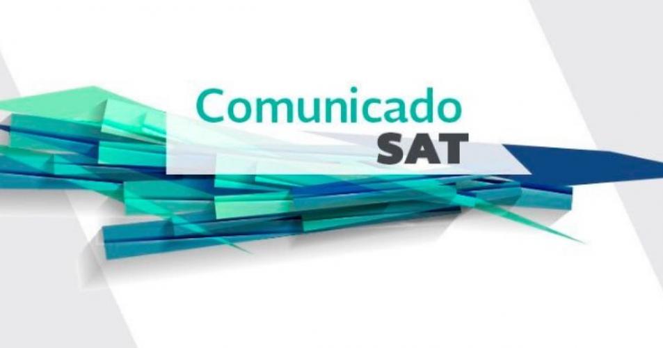 Comunicado del SAT 2