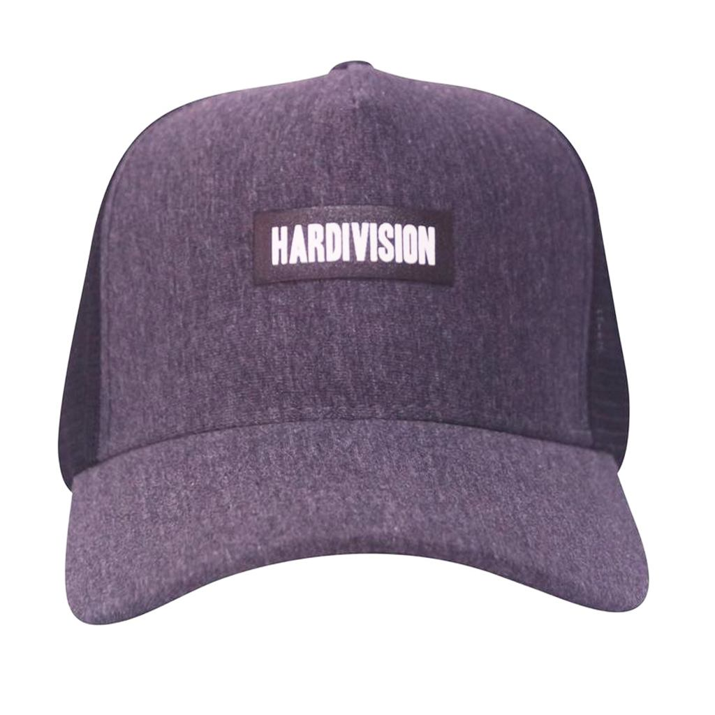 Boné Hardivision Aba Curva Cinza Trucker Logo