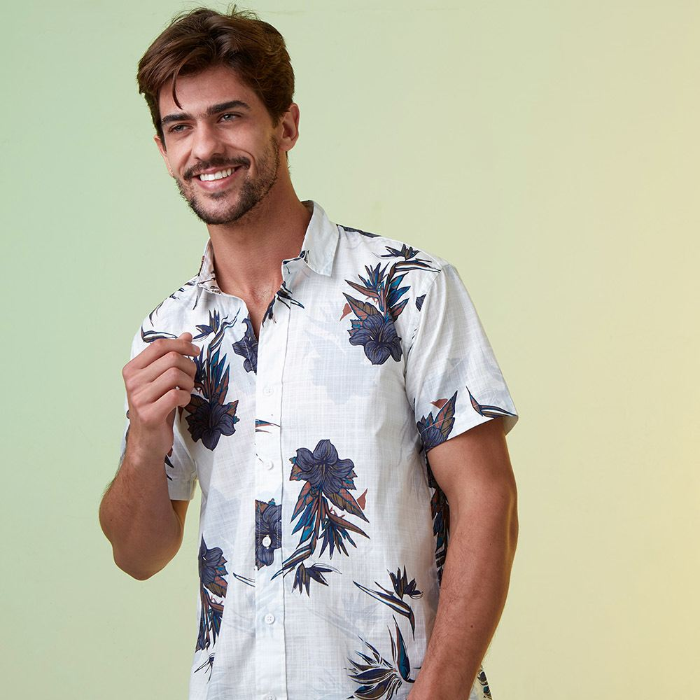 Camisa Floral White