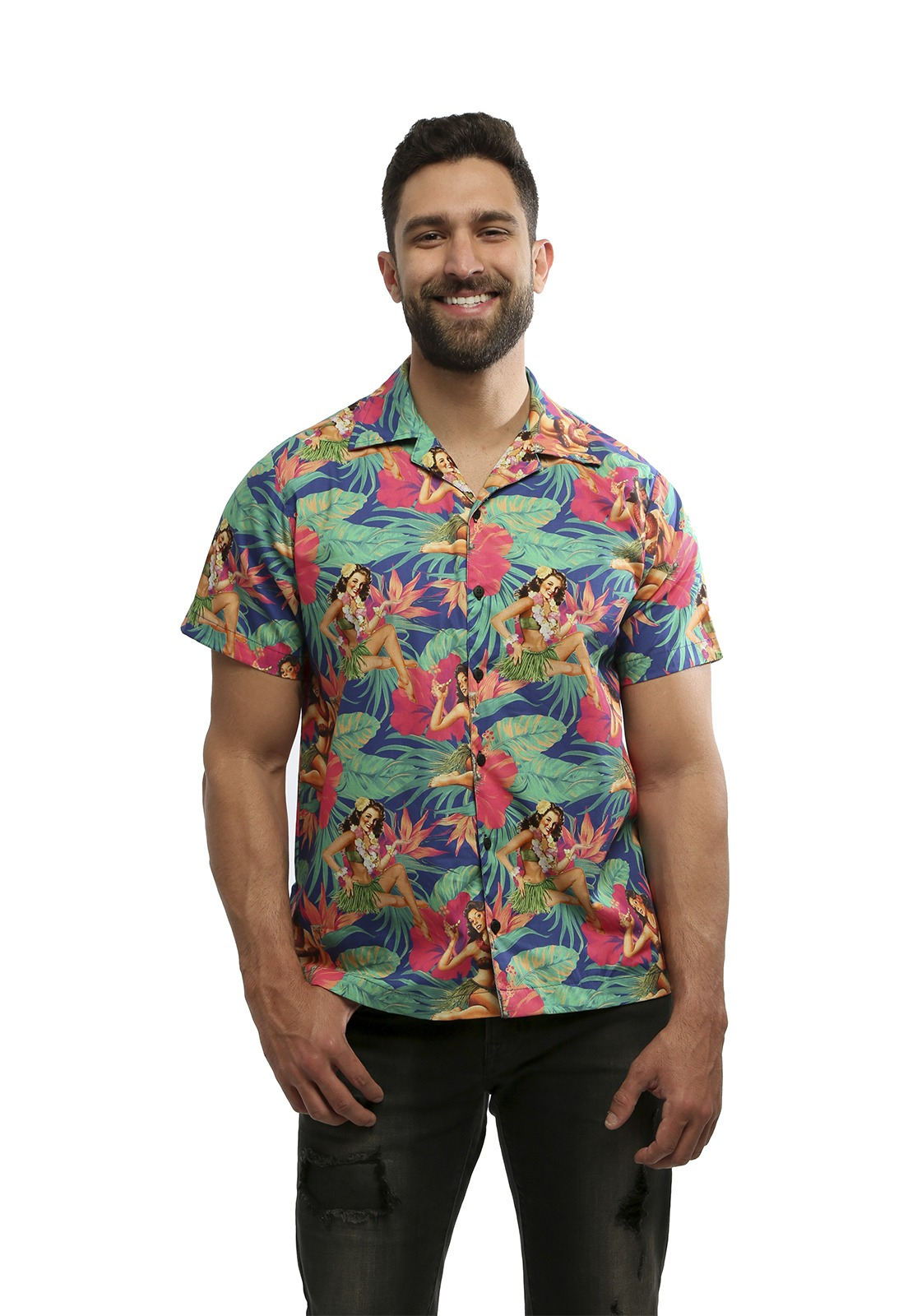 Camisa Hardivision Aloha Manga Curta