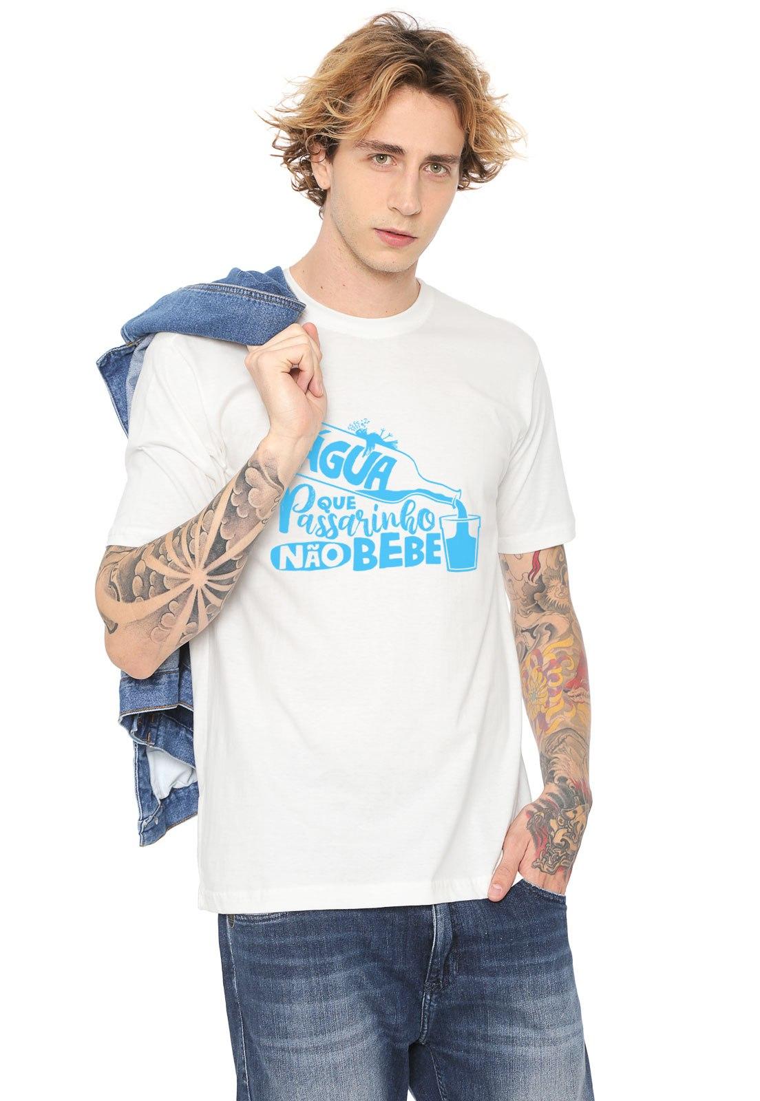 Camiseta Estampada Água que Passarinho Não Bebe