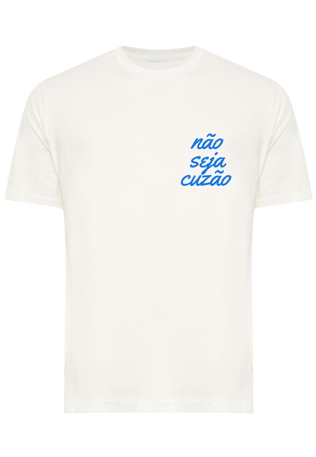 Camiseta Estampada Não Seja Cuzão
