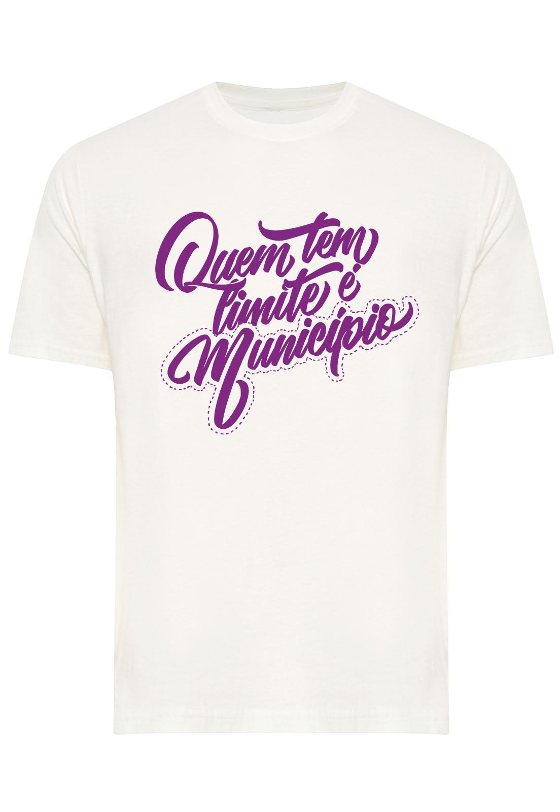 Camiseta Estampada Quem Tem Limite é Município