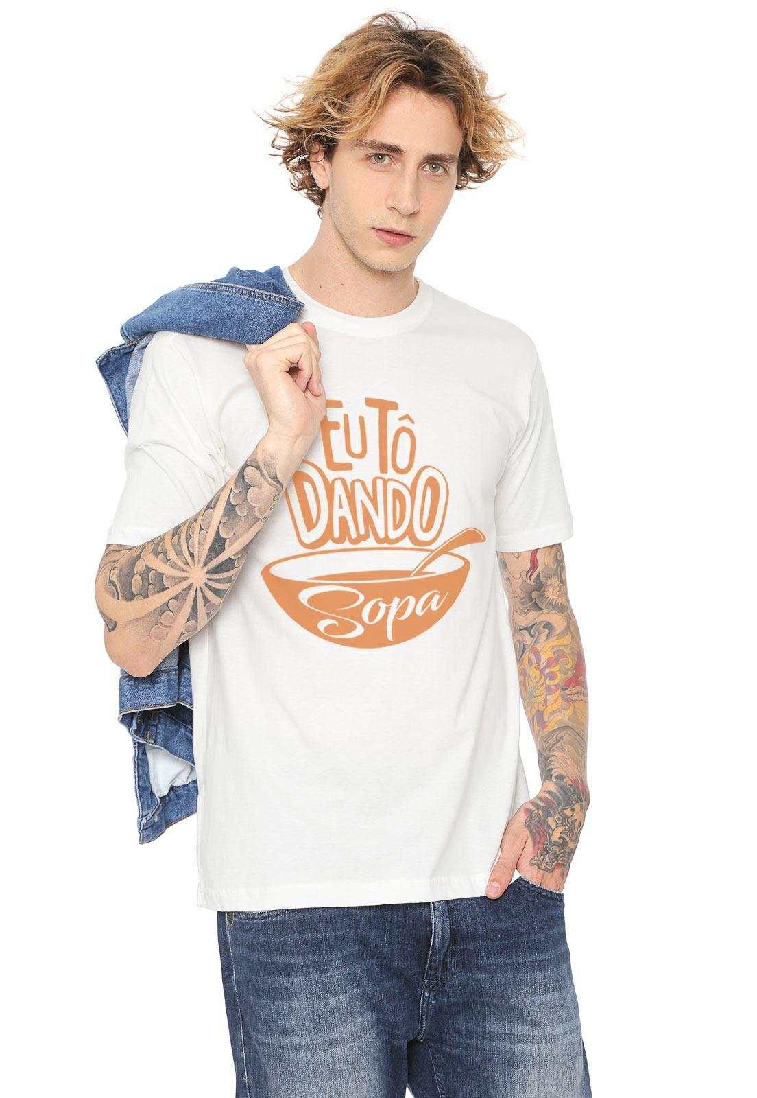 Camiseta Estampada Tô Dando Sopa